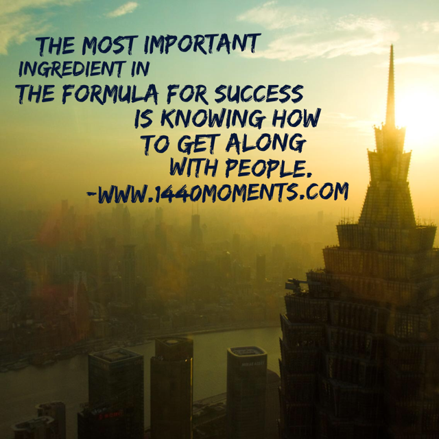 The Most Important Formula for Success