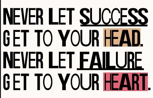 You Will Always Pass Failure on Your Way to Success