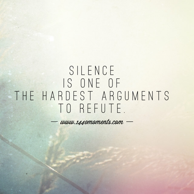 A Meaningful Silence vs. Meaningless Words