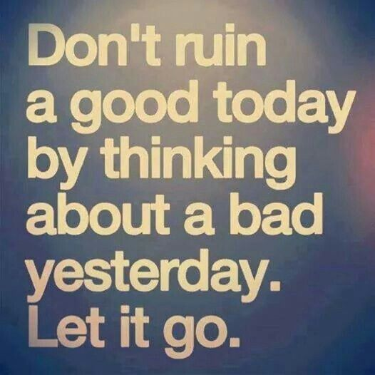 About Letting Things Go...