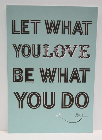 Do what you love.